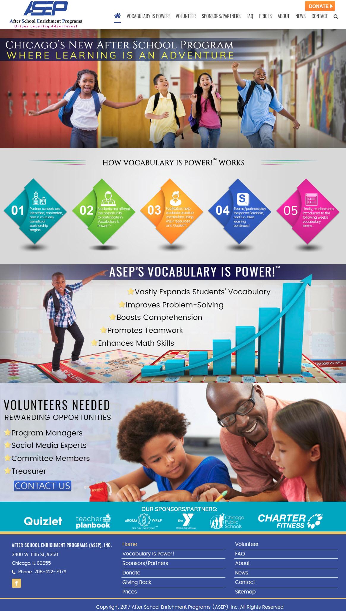 asepchgo Charitable Organization Website Design