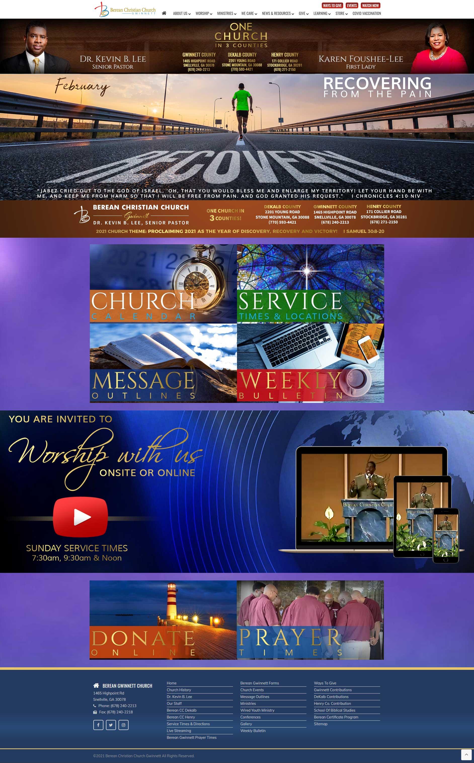 Berean Gwinnett Church Website Design