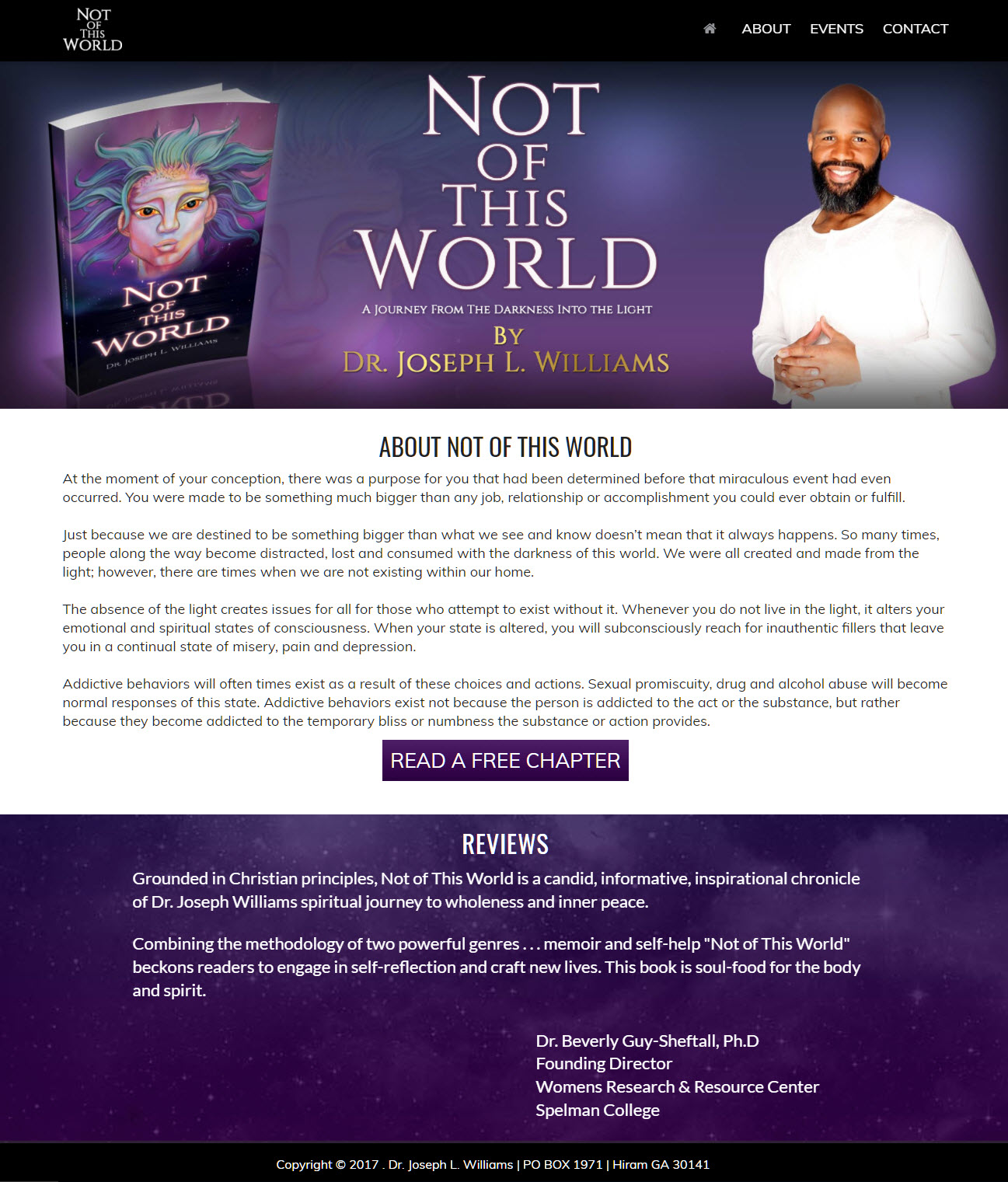 Christian Book Promotion Website Design