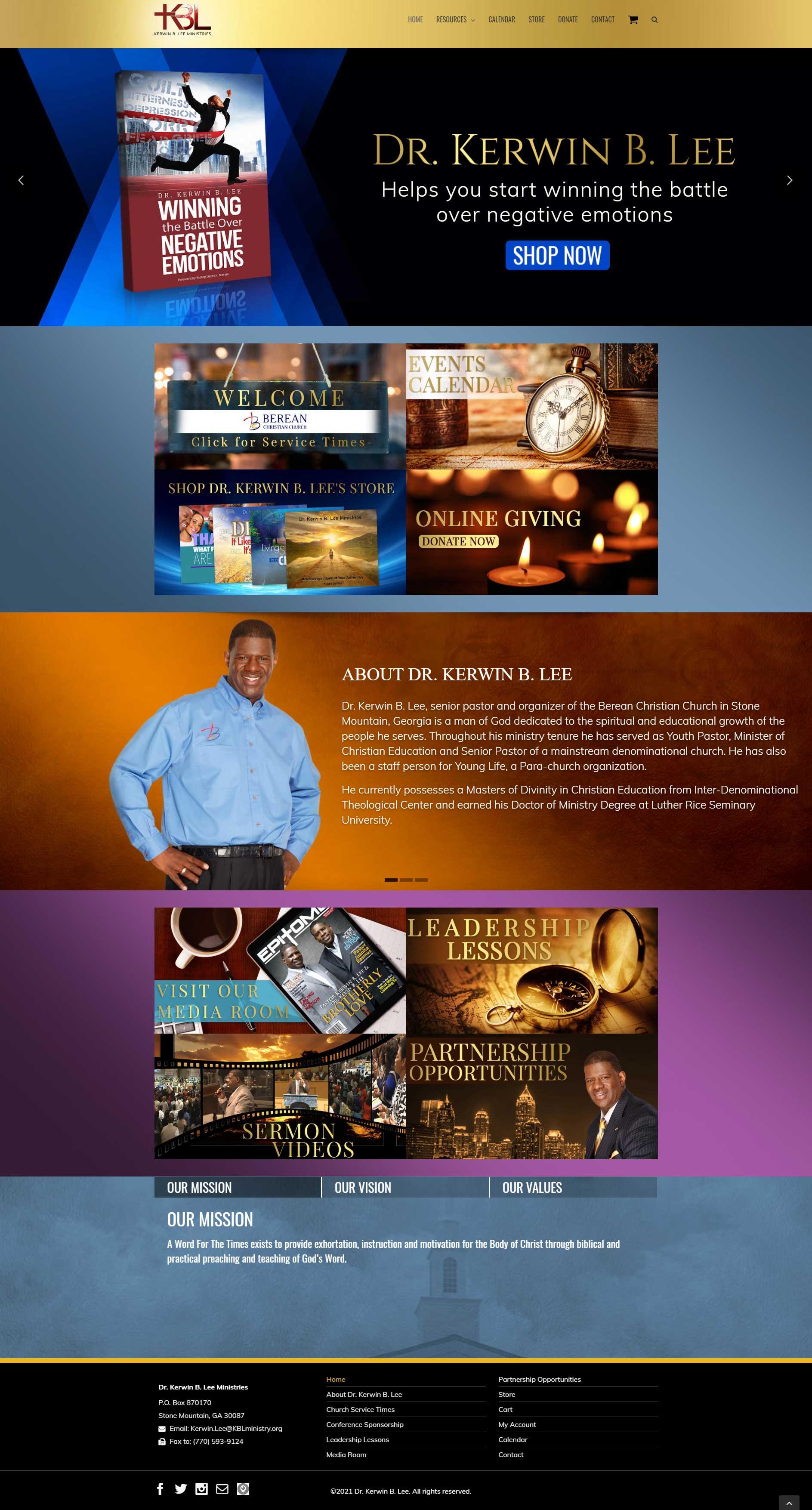 Pastors Ministry Website Design