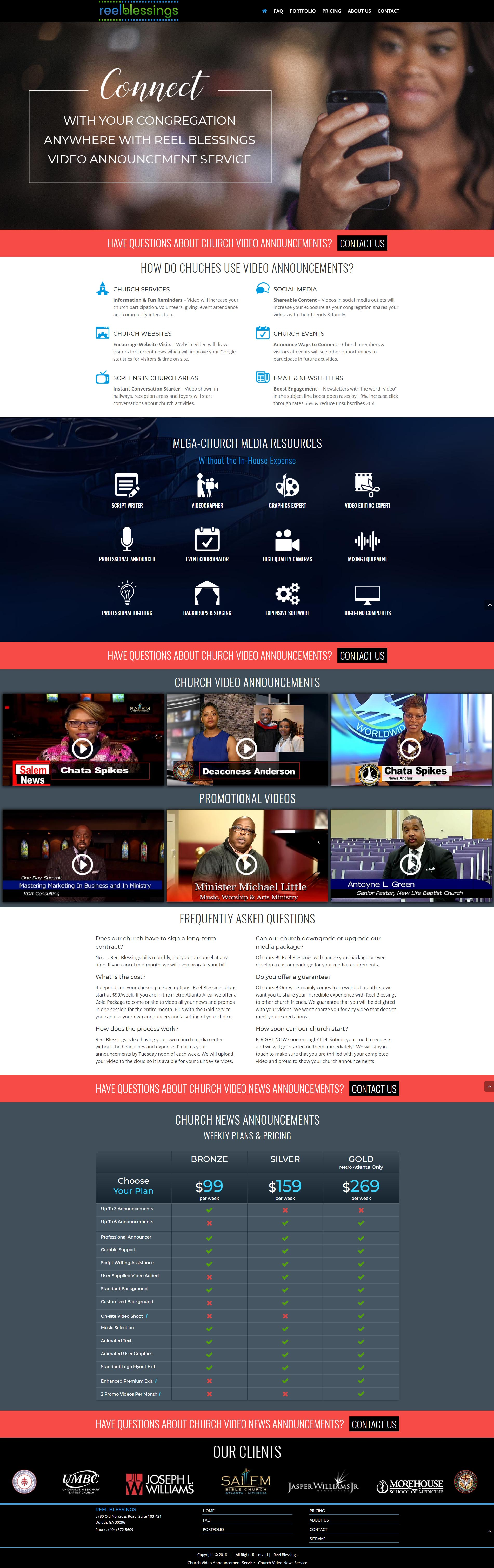 Audio Visual Website Design Page