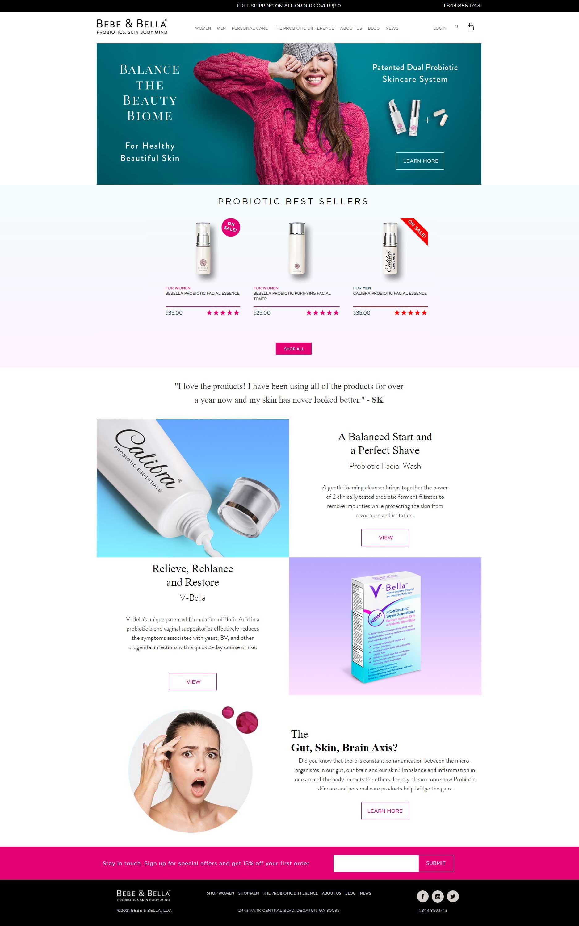 bebeandbella-probiotic-skincare-wordpress-design-home